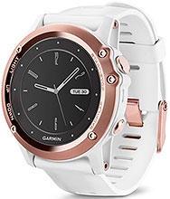 GARMIN fenix 5S Sapphire Rose Gold with White Band
