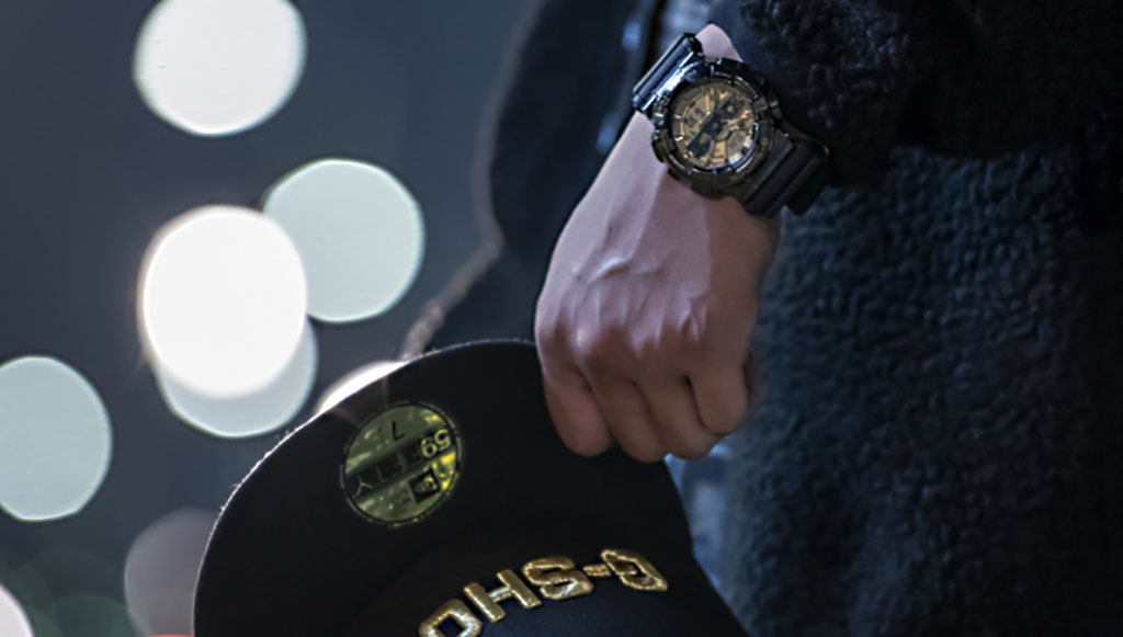 G-SHOCK GM-110NE-1AER коллаборация CASIO и New-Era