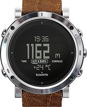SUUNTO Core Brushed Steel Brown Leather