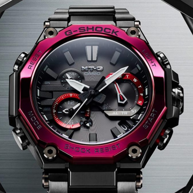 CASIO G-Shock MTG-B2000 Dual Core Guard Carbon Monocoque Case – двойная защита времени