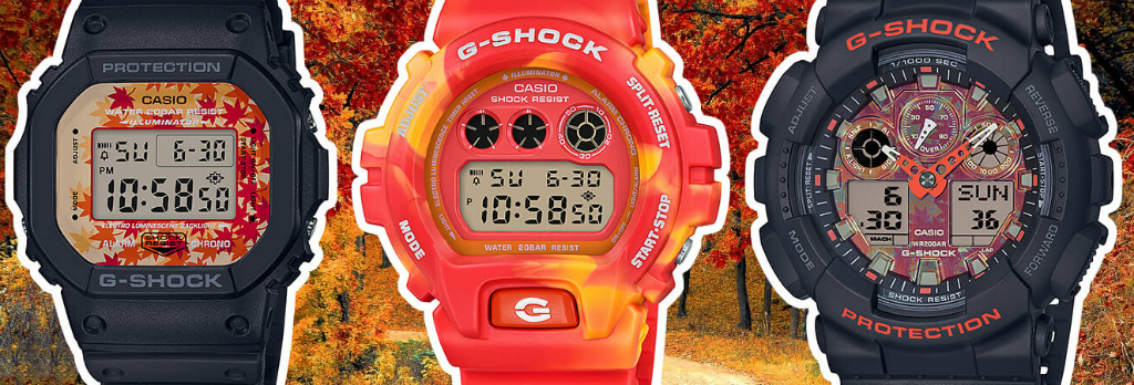 Часы CASIO G-Shock Kyo Momiji Color Series Autumn Leaves